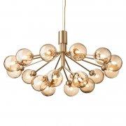 【Nuura】「Apiales 18 pendant, brushed brass - gold」デザイン照明 18灯 ブラッシュドブラス - ゴールド (Φ890×H480mm)