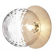 【Nuura】「Liila 1 wall/ceiling lamp, large, gold - clear」デザイン照明ウォール/シーリングライト ラージ ゴールド-クリア(Φ245×H230mm)<img class='new_mark_img2' src='https://img.shop-pro.jp/img/new/icons1.gif' style='border:none;display:inline;margin:0px;padding:0px;width:auto;' />