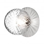 【Nuura】「Liila 1 wall/ceiling lamp, medium, silver - clear」デザイン照明ウォール/シーリングライト シルバー-クリア (Φ165×H170mm)<img class='new_mark_img2' src='https://img.shop-pro.jp/img/new/icons1.gif' style='border:none;display:inline;margin:0px;padding:0px;width:auto;' />