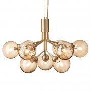【Nuura】「Apiales 9 pendant, brushed brass - gold」デザイン照明 9灯 ブラッシュドブラス - ゴールド (Φ595×H390mm)