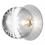 【Nuura】「Liila 1wall/ceiling lamp, large, silver - clear」デザイン照明ウォールシーリングライト ラージ シルバー-クリア(Φ245×H230mm)<img class='new_mark_img2' src='https://img.shop-pro.jp/img/new/icons1.gif' style='border:none;display:inline;margin:0px;padding:0px;width:auto;' />