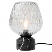 【&Tradition】「Blown SW6 table lamp, silver - black marble」デザイン照明テーブルランプ シルバー-ブラックマーブル(Φ230×H350mm)<img class='new_mark_img2' src='https://img.shop-pro.jp/img/new/icons1.gif' style='border:none;display:inline;margin:0px;padding:0px;width:auto;' />