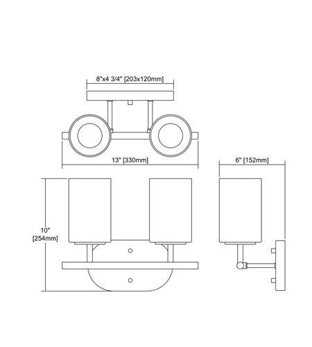 【ELK】ウォールライト「Pemlico」2灯(L152×W330×H254mm)