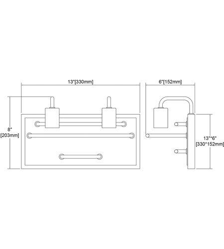 【ELK】ウォールライト「Copley」2灯(L152×W330×H203mm)