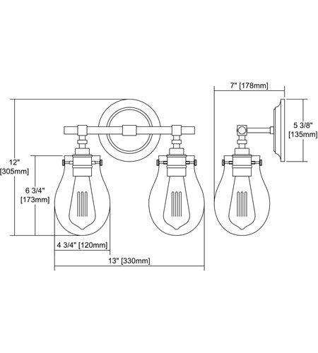 【ELK】ウォールライト「Jaelyn」2灯(L178×W330×H305mm)