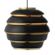 【Artek】「Aalto pendant A331 Beehive, black - brass」デザイン照明ペンダントライト ブラック-ブラス(Φ330×H300mm)<img class='new_mark_img2' src='https://img.shop-pro.jp/img/new/icons1.gif' style='border:none;display:inline;margin:0px;padding:0px;width:auto;' />