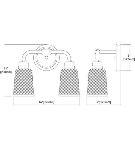 【ELK】ウォールライト「Glencoe」2灯(L178×W356×H279mm)