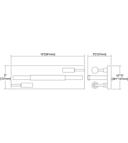 【ELK】ウォールライト「Heathrow」2灯(L127×W381×H127mm)
