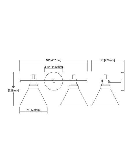 【ELK】ウォールライト「Pemberton」2灯(L229×W457×H229mm)