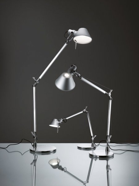 【Artemide】「Tolomeo Lettura floor lamp, aluminium」デザイン照明フロアランプ アルミニウム(Φ230×D1000×H1670mm)