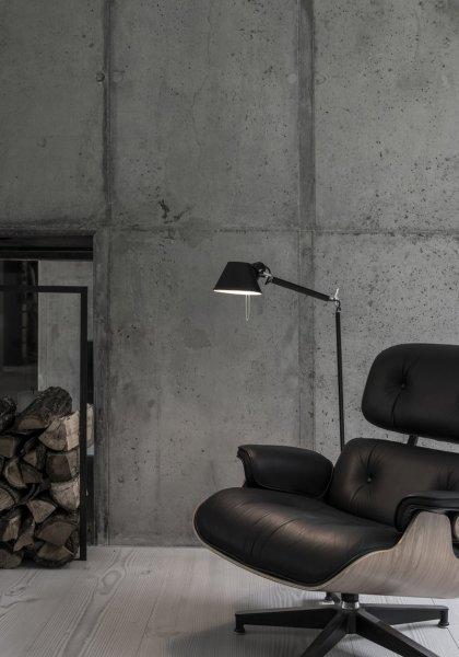 【Artemide】「Tolomeo Lettura floor lamp, black」デザイン照明フロアランプ ブラック(Φ230×D1000×H1670mm)