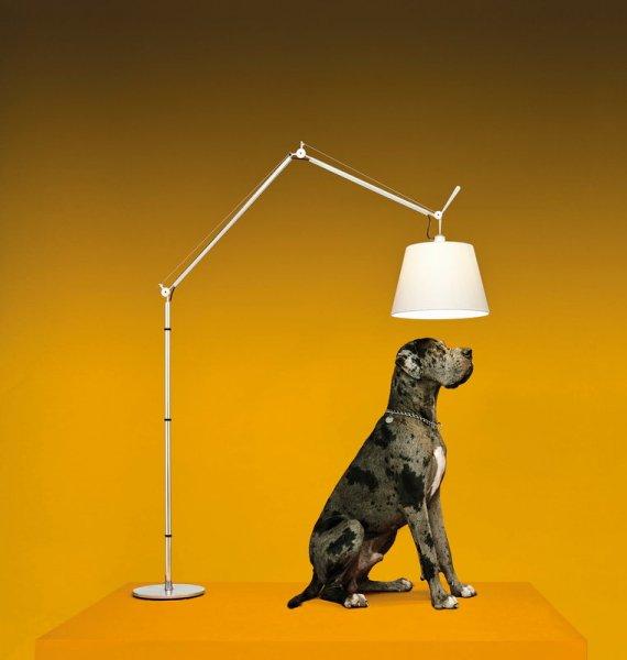 【Artemide】「Tolomeo Mega floor lamp 42cm, aluminium - silk」デザイン照明フロアランプ シルク(Φ420mm)