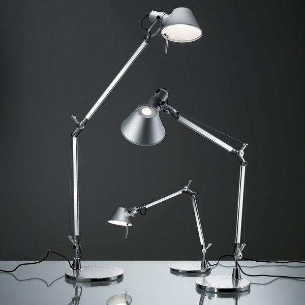 【Artemide】「Tolomeo Micro LED table lamp, aluminium」デザイン照明テーブルランプ アルミニウム (Φ170×D450-690×H370-730mm)