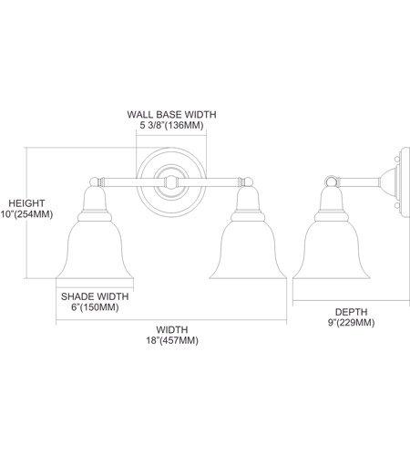 【ELK】ウォールライト「Vintage Bath」2灯(W457×H254mm)