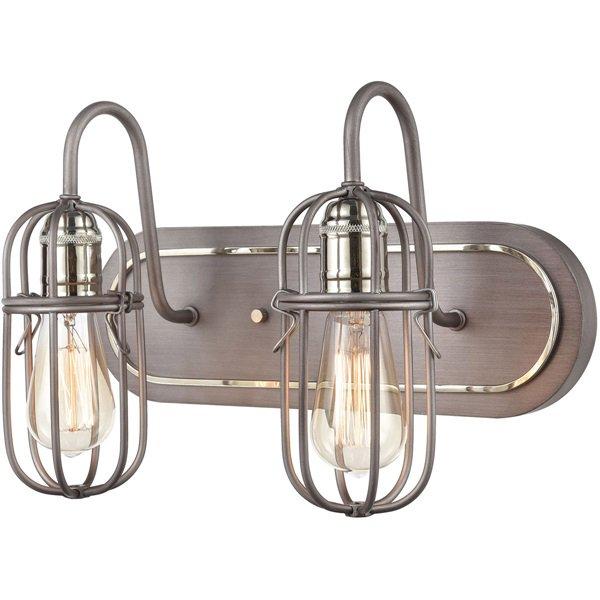 【ELK】ウォールライト「Industrial Cage」2灯(L178×W406×H254mm)