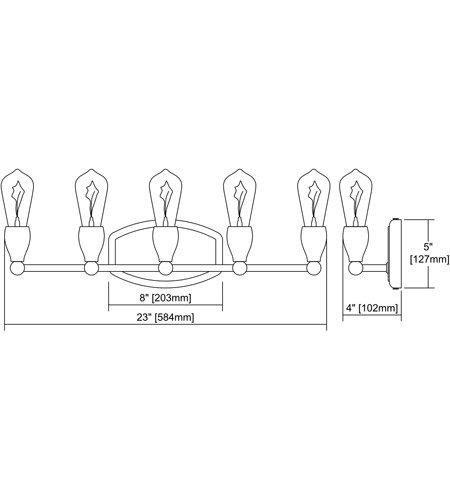 【ELK】ウォールライト「Vernon」5灯(L102×W584×H127mm)