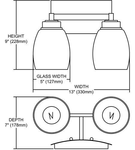 【ELK】ウォールライト「Northport」2灯(L178×W330×H229mm)
