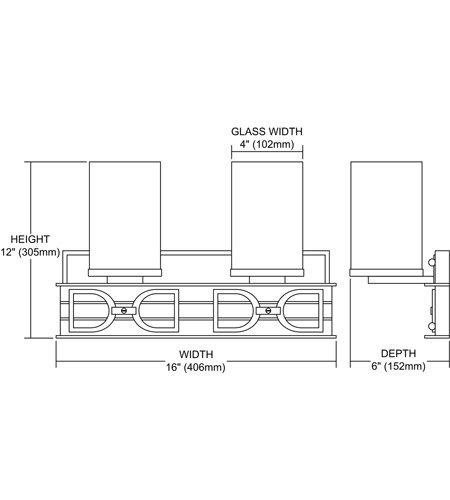 【ELK】ウォールライト「Campolina」2灯(W406×H305mm)