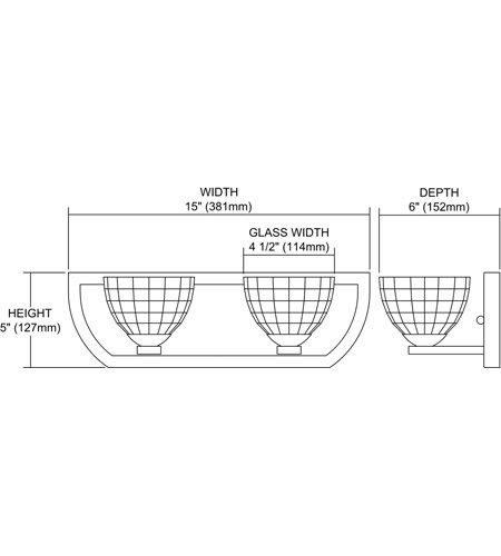 【ELK】ウォールライト「Sculptive」2灯(W381×H127mm)