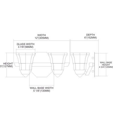 【ELK】ウォールライト「Deco」2灯(W305×H127mm)