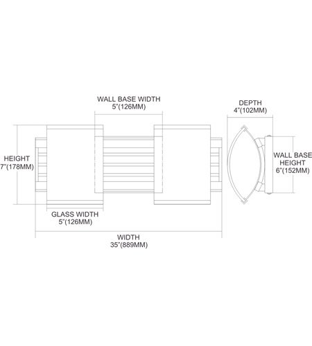 【ELK】ウォールライト「Winslow」2灯(W432×H178mm)