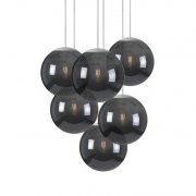 【Fatboy】「Spheremaker 6 pendant, black」デザイン照明ペンダントライト6灯 ブラック(Φ250mm×6)