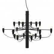 【Flos】「2097/18 chandelier, black」デザイン照明ペンダントライトLED18灯 ブラック(Φ700×510mm)<img class='new_mark_img2' src='https://img.shop-pro.jp/img/new/icons1.gif' style='border:none;display:inline;margin:0px;padding:0px;width:auto;' />