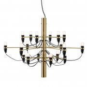 【Flos】「2097/18 chandelier, brass」デザイン照明ペンダントライトLED18灯 ブラス(Φ700×510mm)<img class='new_mark_img2' src='https://img.shop-pro.jp/img/new/icons1.gif' style='border:none;display:inline;margin:0px;padding:0px;width:auto;' />