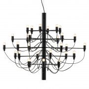 【Flos】「2097/30 chandelier, black」デザイン照明ペンダントライトLED30灯 ブラック(Φ880×720mm)<img class='new_mark_img2' src='https://img.shop-pro.jp/img/new/icons1.gif' style='border:none;display:inline;margin:0px;padding:0px;width:auto;' />