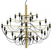 【Flos】「2097/30 chandelier, brass」デザイン照明ペンダントライトLED30灯 ブラス(Φ880×720mm)<img class='new_mark_img2' src='https://img.shop-pro.jp/img/new/icons1.gif' style='border:none;display:inline;margin:0px;padding:0px;width:auto;' />