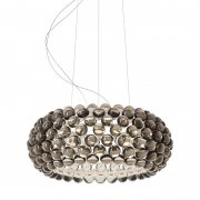 【Foscarini】「Caboche Plus pendant, medium, dimmable, grey」デザイン照明ペンダントライト ミディアム グレー(Φ500×H200mm)<img class='new_mark_img2' src='https://img.shop-pro.jp/img/new/icons1.gif' style='border:none;display:inline;margin:0px;padding:0px;width:auto;' />
