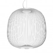 【Foscarini】「Spokes 2 pendant, dimmable, white」デザイン照明ペンダントライト 調光可能 ホワイト(Φ520×H525mm)<img class='new_mark_img2' src='https://img.shop-pro.jp/img/new/icons1.gif' style='border:none;display:inline;margin:0px;padding:0px;width:auto;' />