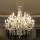 <B>【在庫有!】 【LA LUCE】</B>アスフールorスワロフスキークリスタルシャンデリア 36灯(約W1250×H1500mm)