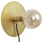 【Frama】「E27 wall lamp, medium, brass」デザイン照明ウォールランプ ブラス(Φ250×D70mm)<img class='new_mark_img2' src='https://img.shop-pro.jp/img/new/icons1.gif' style='border:none;display:inline;margin:0px;padding:0px;width:auto;' />