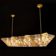 【WRANOVSKY】デザインシャンデリア「Livelli」 12灯(W1420×D460×H230mm)