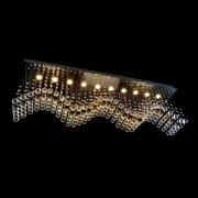 【WRANOVSKY】クリスタルシーリングシャンデリア「Wave」 10灯(W1500×D300×H470mm)