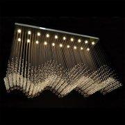 【WRANOVSKY】クリスタルシーリングシャンデリア「Wave」 20灯(W1800×D500×H1200mm)