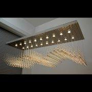 【WRANOVSKY】クリスタルシーリングシャンデリア「Wave」 20灯(W1700×D600×H600mm)