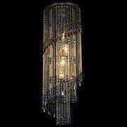 【WRANOVSKY】クリスタルシーリングシャンデリア「St. Tropez color」 4灯 (W300×H1000mm)