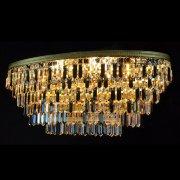 【WRANOVSKY】クリスタルシーリングシャンデリア「Porto color」 6灯 (W800×D300×H350mm)