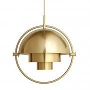【Gubi】「Multi-Lite pendant, small, brass - shiny brass」ペンダントライト スモール ブラス-シャイニーブラス(Φ255×H255mm)