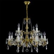 【WRANOVSKY】真鍮製クリスタルシャンデリア「Virgo」 12灯 ゴールド(W680×H620mm)