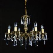 【WRANOVSKY】真鍮製クリスタルシャンデリア「Draco」 6灯 ゴールド(W540×H430mm)