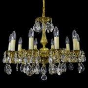 【WRANOVSKY】真鍮製クリスタルシャンデリア「Draco」 10灯 ゴールド(W600×H460mm)