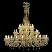 【WRANOVSKY】大型クリスタルシャンデリア「Princesse」 60灯 (W1750×H2010mm)