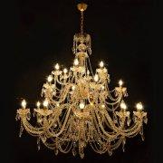 【WRANOVSKY】大型クリスタルシャンデリア「Aristocratico」 24灯(W1500×H1400mm)