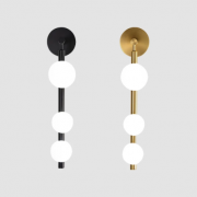 【Quality】北欧スタイル ウォールライト デザイン照明  ブラック ゴールド(H550mm)