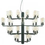 【Normann Copenhagen】「Amp chandelier, large, gold - green」デザイン照明 35灯  ゴールド-グリーン(Φ850×H625mm)