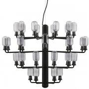 【Normann Copenhagen】「Amp chandelier, large, smoke - black」デザイン照明 35灯  スモーク-ブラック(Φ850×H625mm)