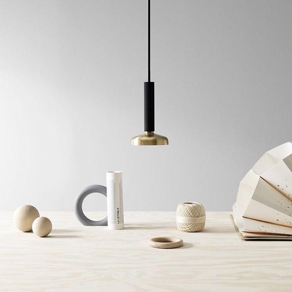 【Pholc】「Blend pendant LED, black-brass」ペンダントライト ブラック-ブラス(Φ90×H160mm)